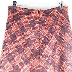 Vintage Skirts - Vtg WilliSmith 100% Wool Plaid Mid-Length Skirt
